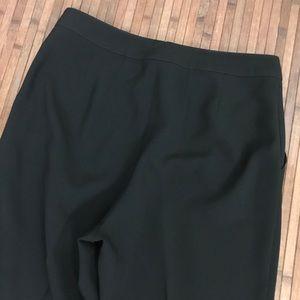 St. John Caviar Black Emma Pants High Rise Pants